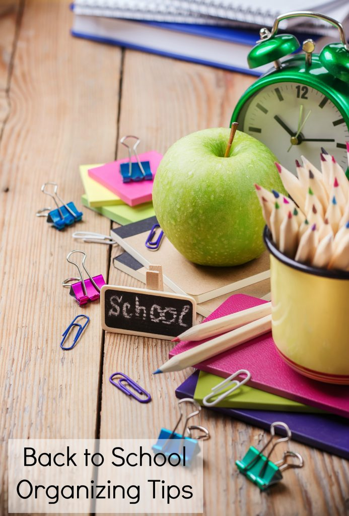 Back to School Organizing Tips for a Low Stress School Year