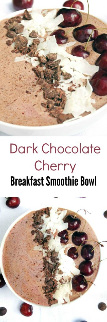 Dark Chocolate Cherry Breakfast Smoothie Bowl Recipe