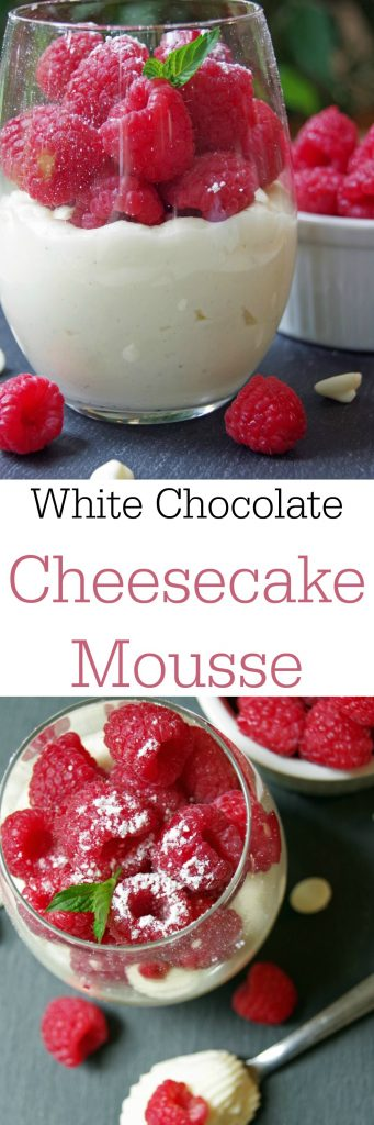 Looking for a delicious and easy dessert recipe Try this White Chocolate Cheesecake Mousse Recipe with Fresh Raspberries