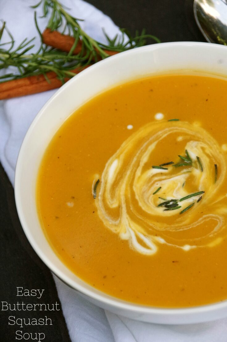 Easy Butternut Squash Soup Recipe with Apples and Cinnamon
