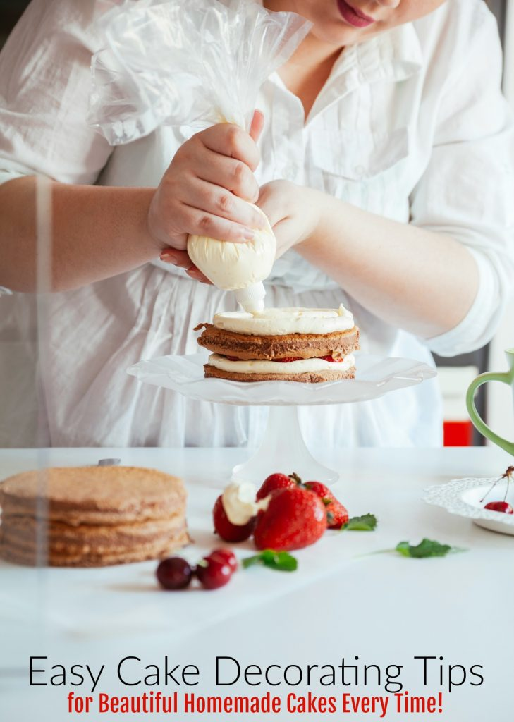 Want To Make Beautiful Homemade Cakes Here Are A Few Easy Cake Decorating Tips That
