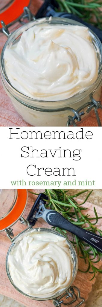 Homemade Shaving Cream Recipe with Rosemary and Mint