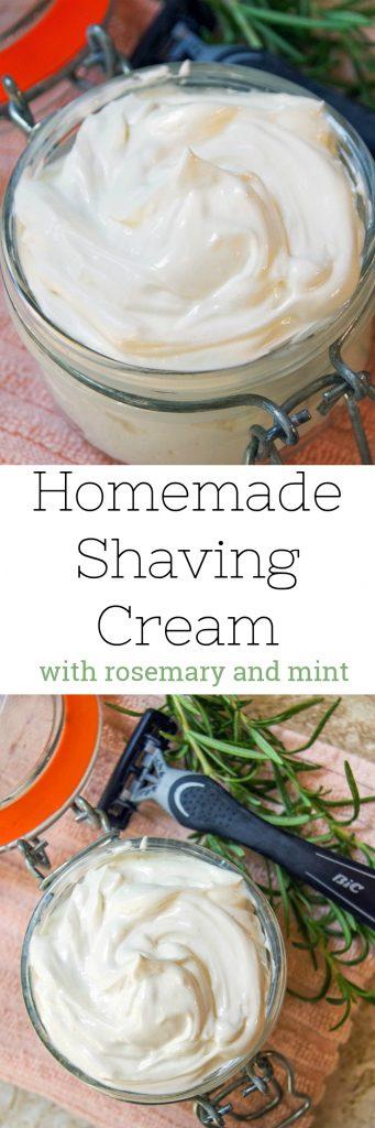 Homemade Shaving Cream Recipe with Rosemary and Mint