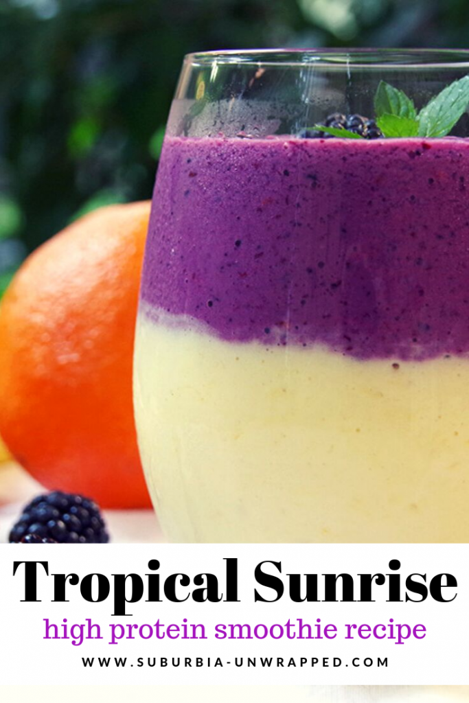 Tropical Sunrise high protein smoothie recipe