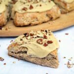 Banana Bread Scones Recipe with Easy Maple Glaze
