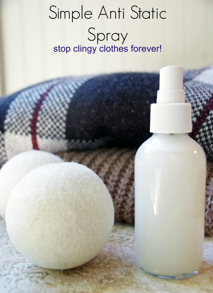 DIY Anti Static Spray and Getting Rid of Static Cling
