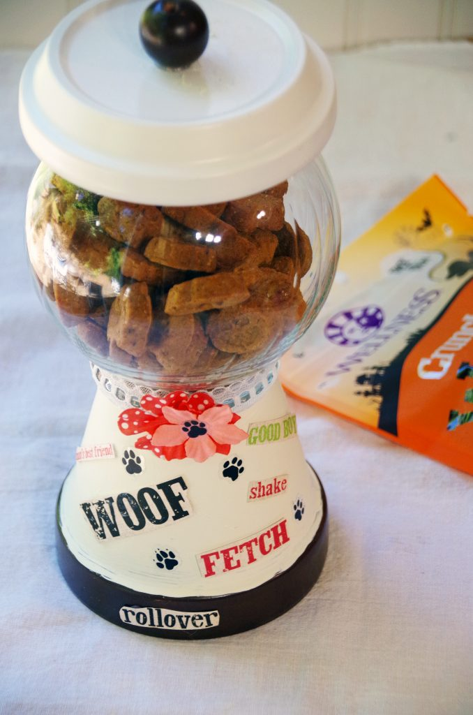 DIY Dog Treat Cookie Jar and Healthy Natural Dog Treats from Wellness