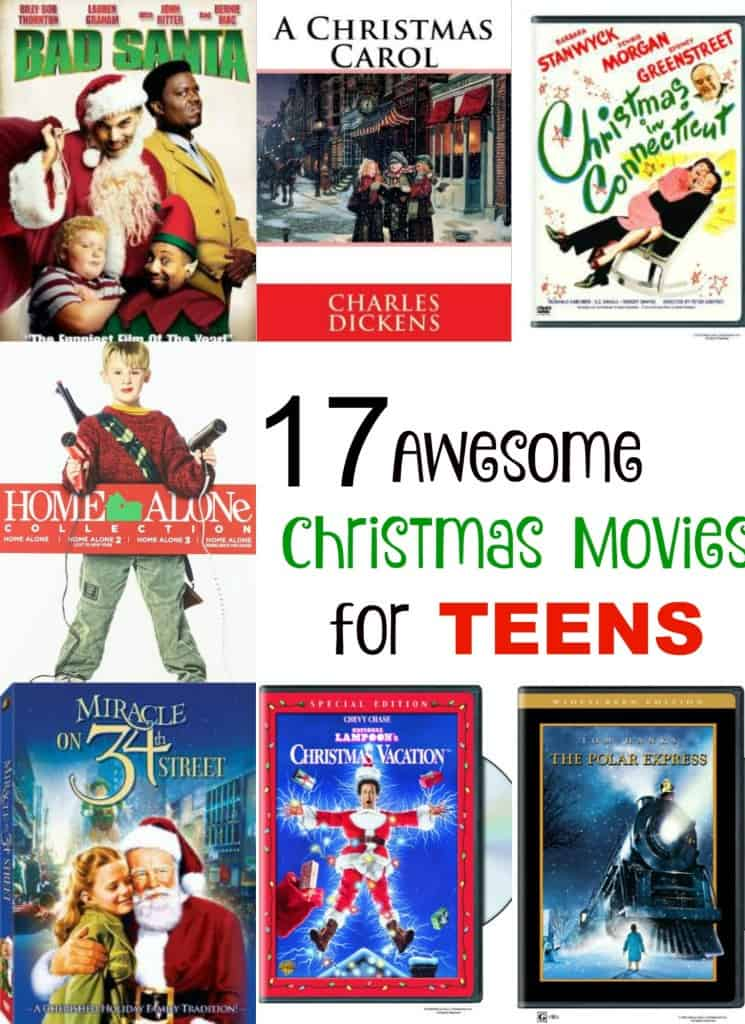 Looking for awesome Christmas movies for teens? Choose a few holiday movies and settle in for a fun holiday-themed family movie night .