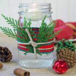 3 Christmas Candle Decorating Ideas that Take Less Than 5 Minutes to Make!