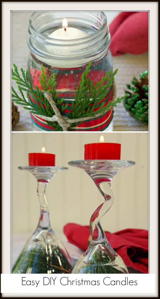 Easy DIY Christmas Candles
