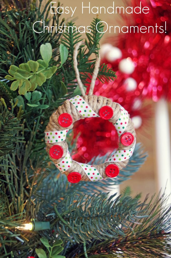 Make these Easy Handmade Christmas Ornaments with Mason Jar Lids!
