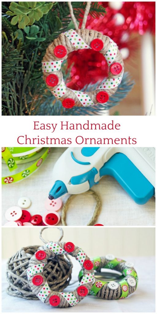 Make these Easy Handmade Christmas Ornaments with Mason Jar Lids