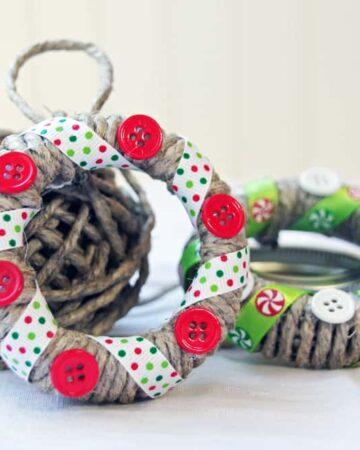 Make these Easy Handmade Christmas Ornaments with Mason Jar Lids!