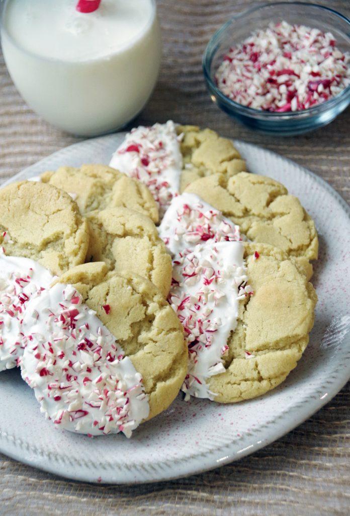 Easy Peppermint Sugar Cookies