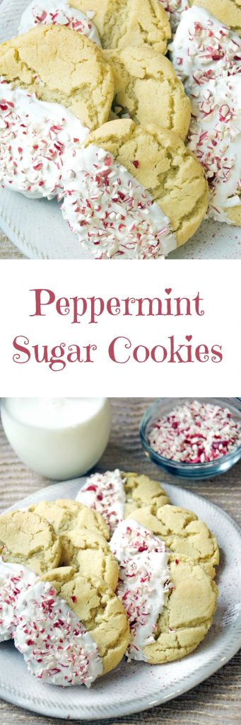 Easy Peppermint Sugar Cookies are the Best Christmas Cookie Recipe Ever!