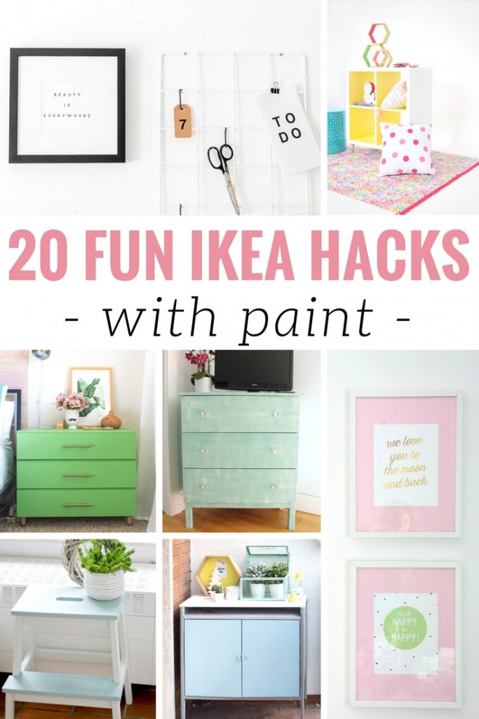 20 DIY IKEA Hacks With Paint to take your home from drab to fab! Creative painting hacks for easy DIY home decor inspiration.