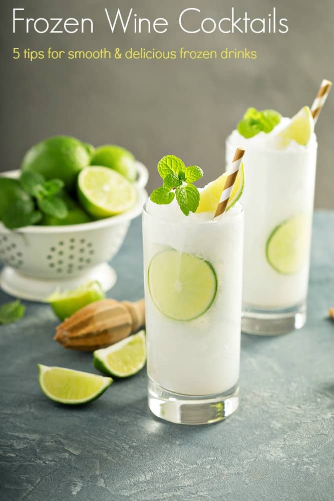 Refreshing summer drink lime frozen cooler or slushie