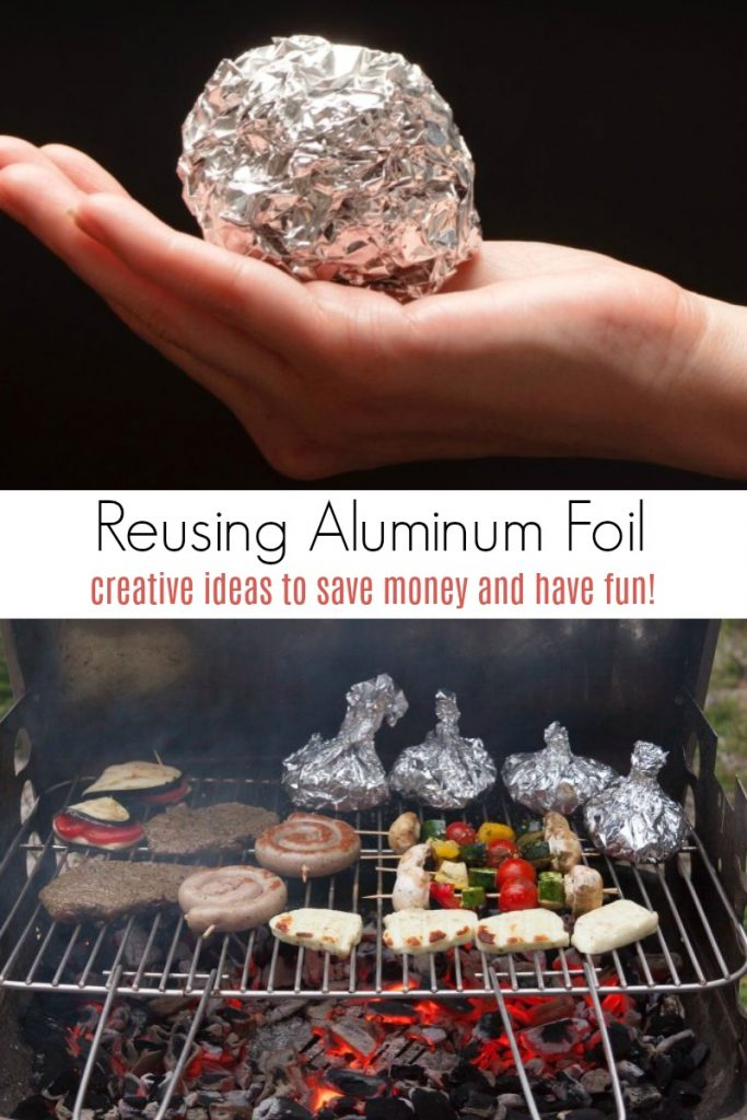 Creative ways to reuse aluminum foil to save money and have fun!
