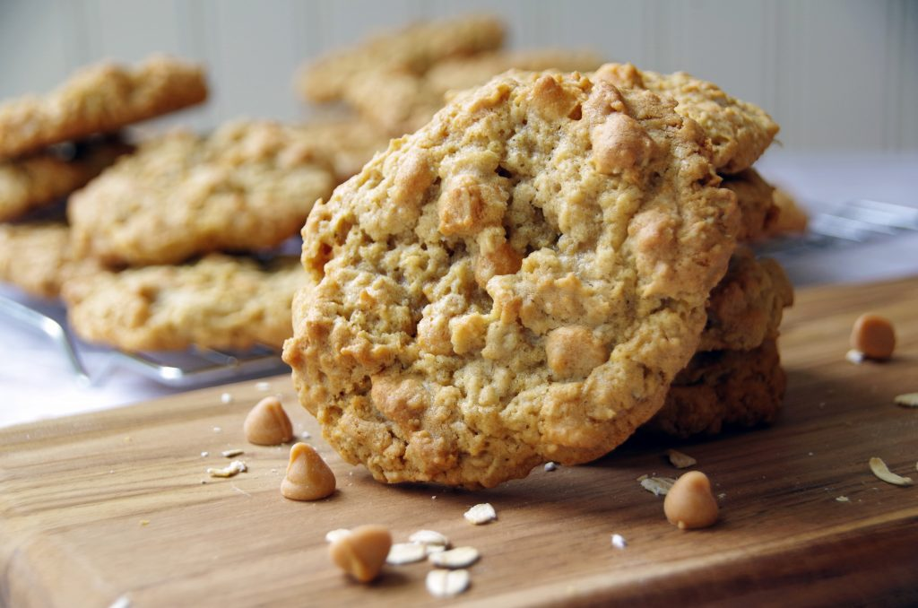 Homemade Oatmeal Cookies with Butterscotch Chips