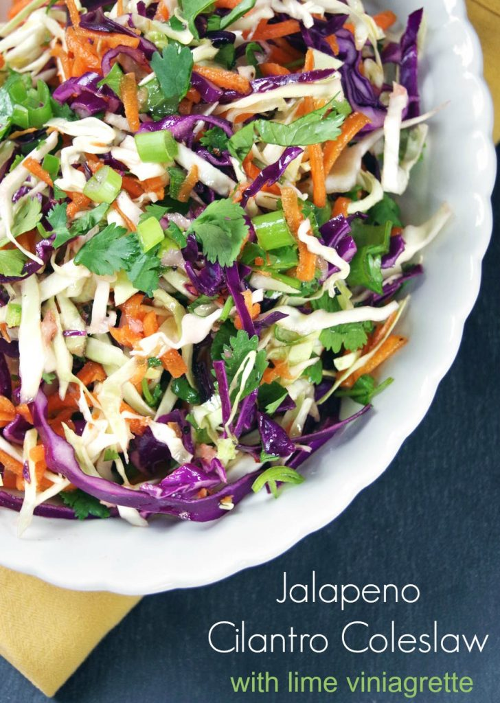 Jalapeno Cilantro Coleslaw Recipe with Lime Vinaigrette