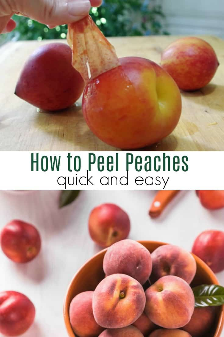 Need to remove the skin from peaches? This is the easiest way to peel peaches!  Learn how to buy a ripe peach and how to ripen a one that is too hard.