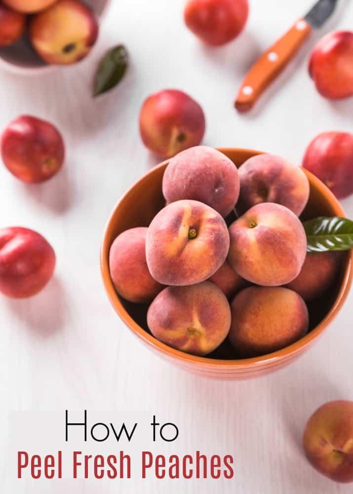 How to Peel Fresh Peaches