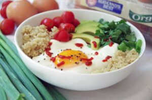 Egg breakfast bowl recipe