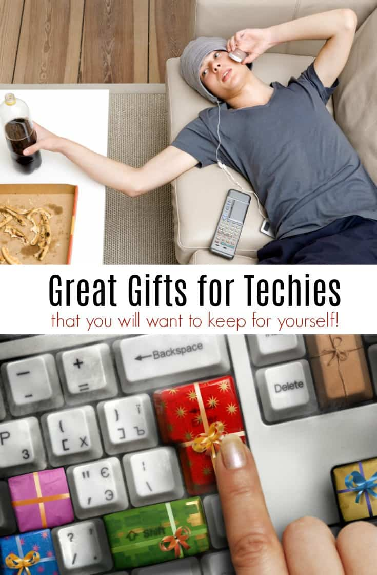 Do you know someone who loves technology gifts? Here are a few great gifts for techies that they may enjoy!