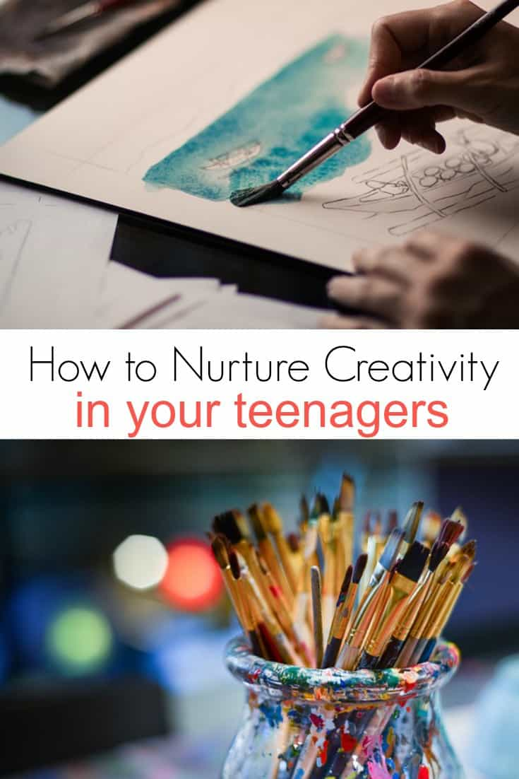 Learn how to nurture creativity in your teenagers with these simple tips.  Whether it is graphic design or home decor, encourage their creative side and inspire creativity!