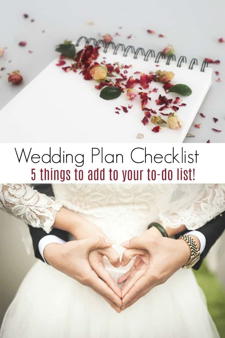 Planning a wedding in the coming year? Add these 5 things to your wedding plan checklist to make your day special and have it run smoothly.