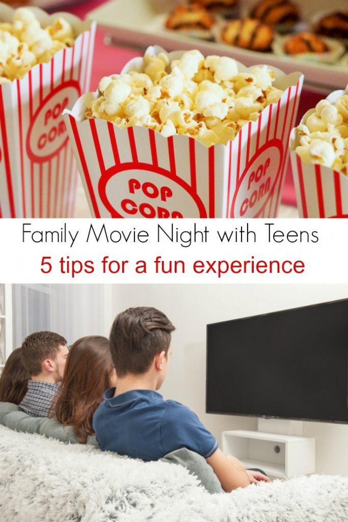 Tips for a fun family movie night with teens