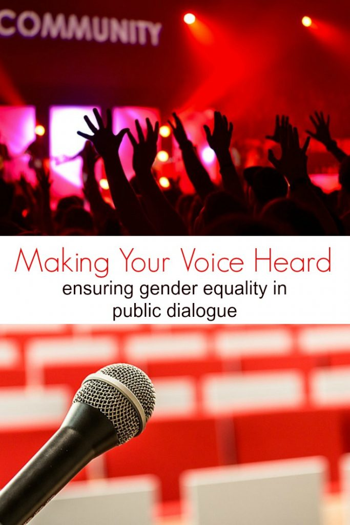 Ensuring Gender Equality and Making Women's Voices Heard in Public Dialogue