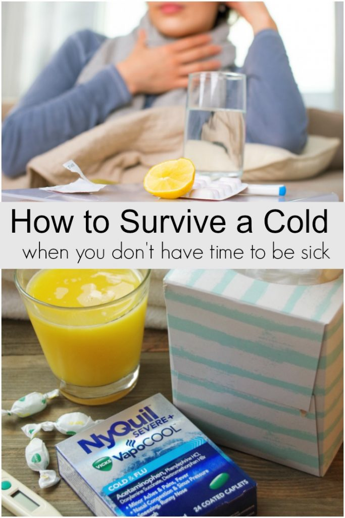 It's important to take a sick day occasionally, however, sometimes you have to power through your cold symptoms and get things done. Here's some tips on how to survive a cold when you don't have time to be sick.
