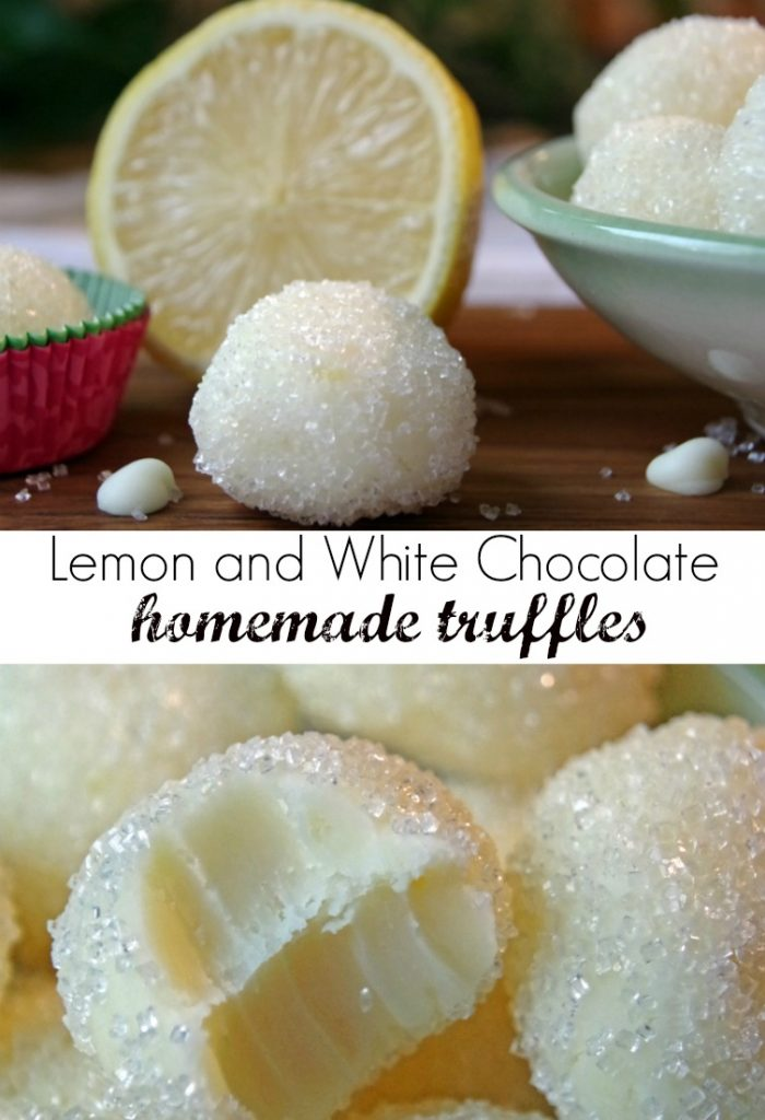 Lemon and White Chocolate Homemade Truffles