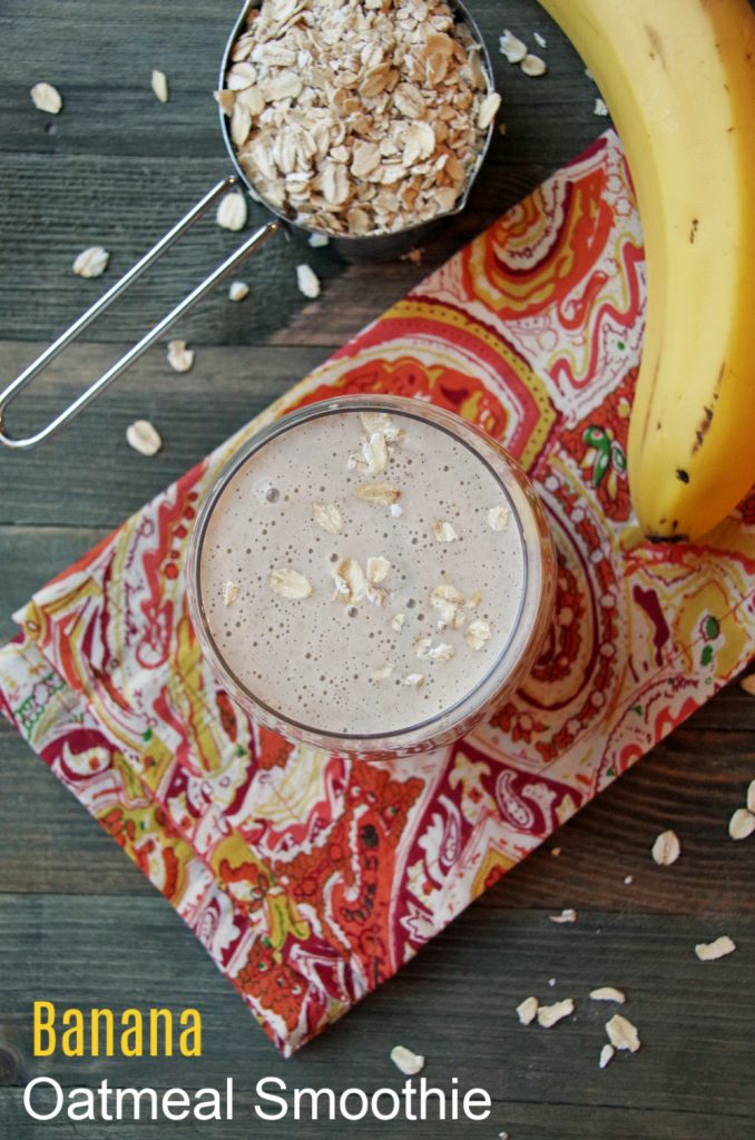 Banana Oatmeal Smoothie Recipe with Almond Butter