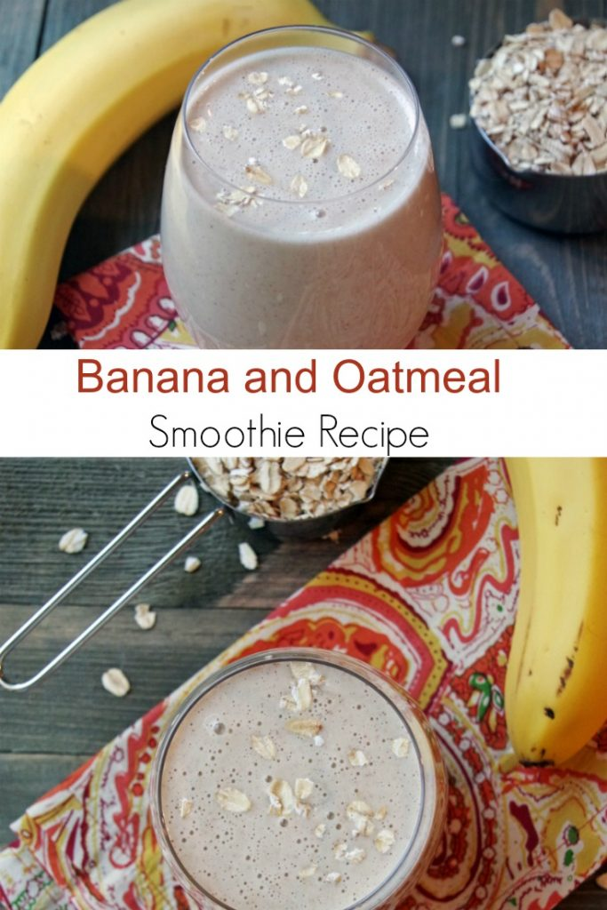 Easy Banana Oatmeal Smoothie Recipe