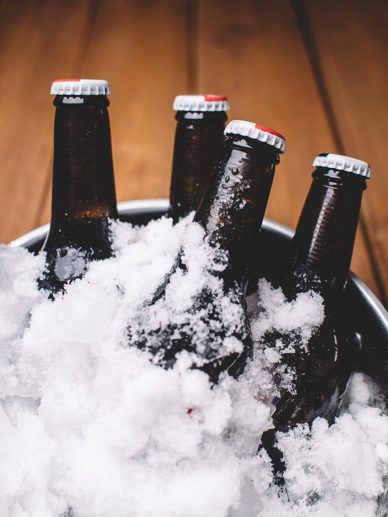 beer in ice bucket