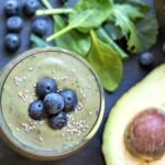 Avocado Smoothie with Blueberries