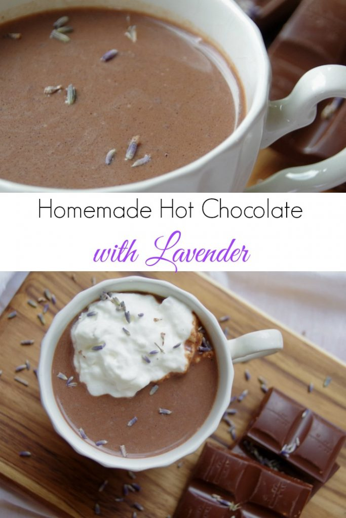 Creamy Homemade Hot Chocolate with Lavender