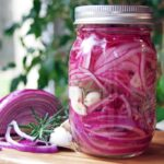 Pickled Red Onions with Rosemary and Garlic