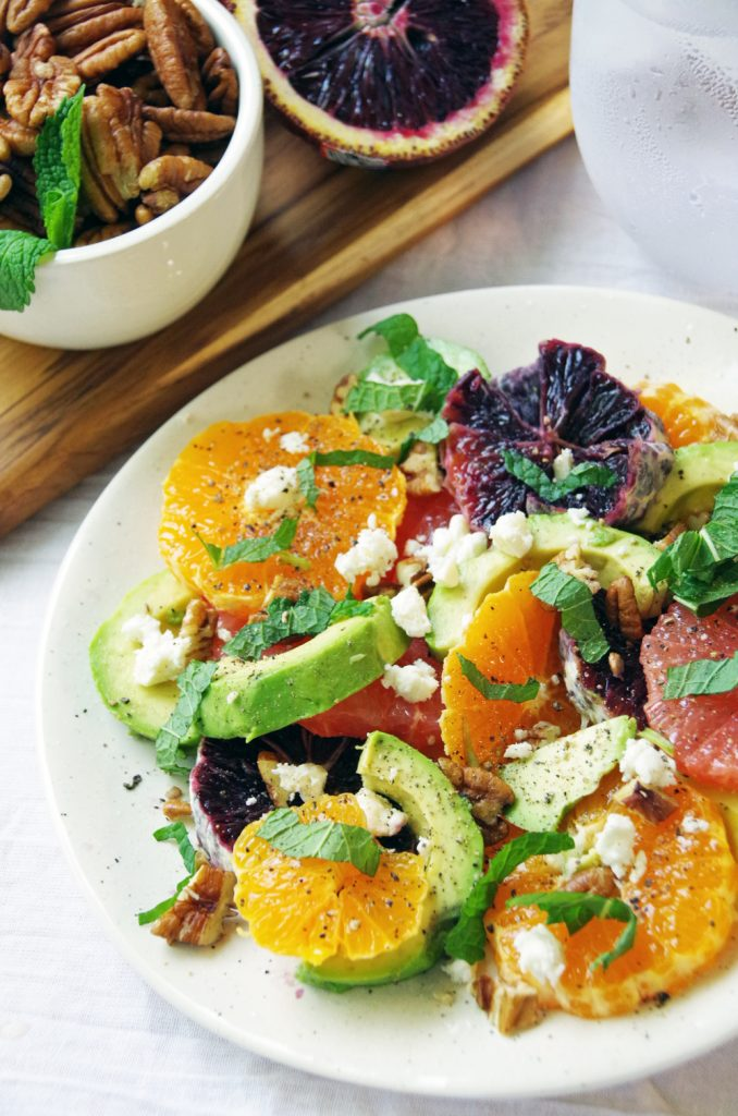 Orange Salad with Avocado and Mint