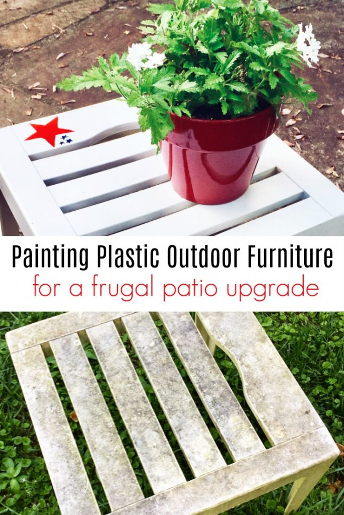 Spray Painting Plastic Outdoor Furniture for a Frugal Patio Upgrade
