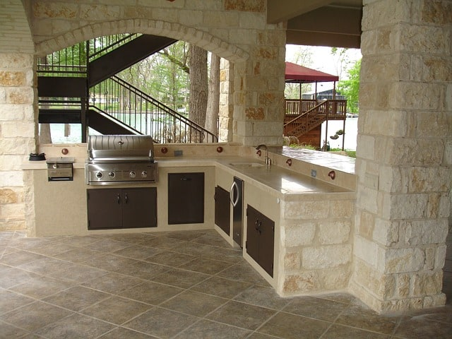 outdoor kitchen area for patio upgrade