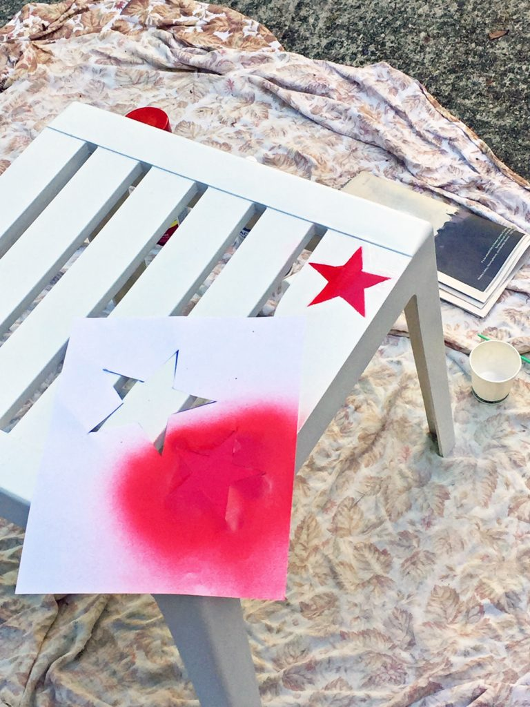 spray painting plastic outdoor furniture
