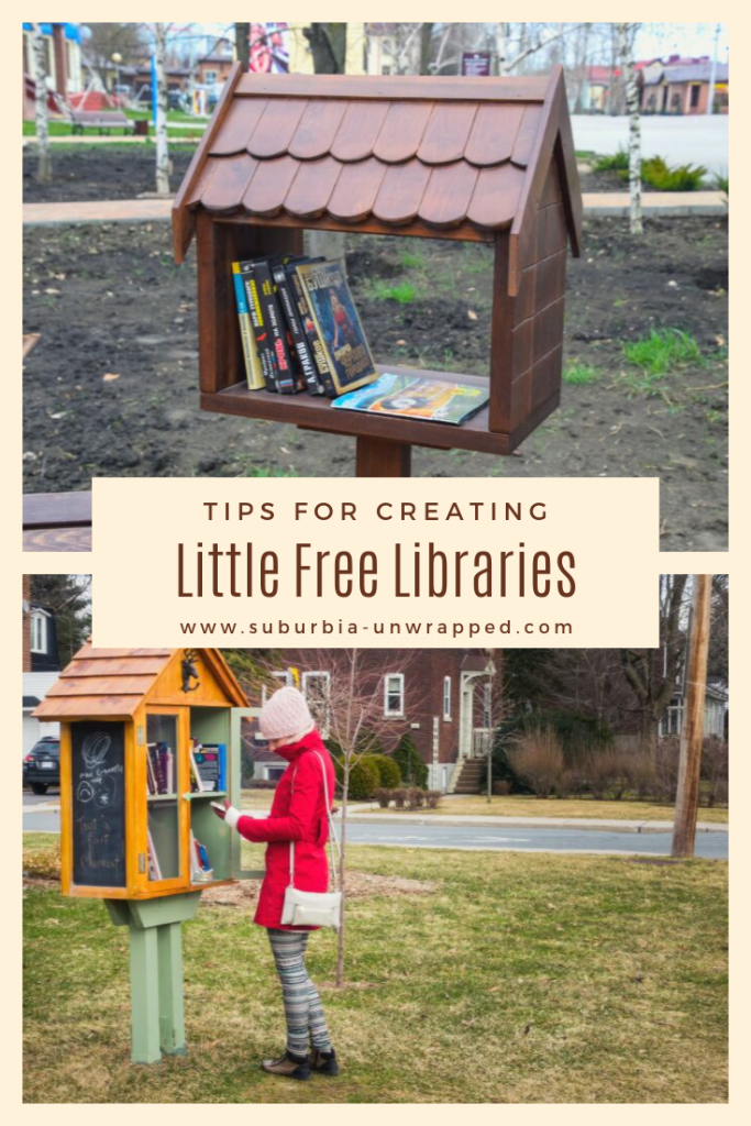 Tips for Outdoor lending library photos and text sayingStarting Little Free Libraries