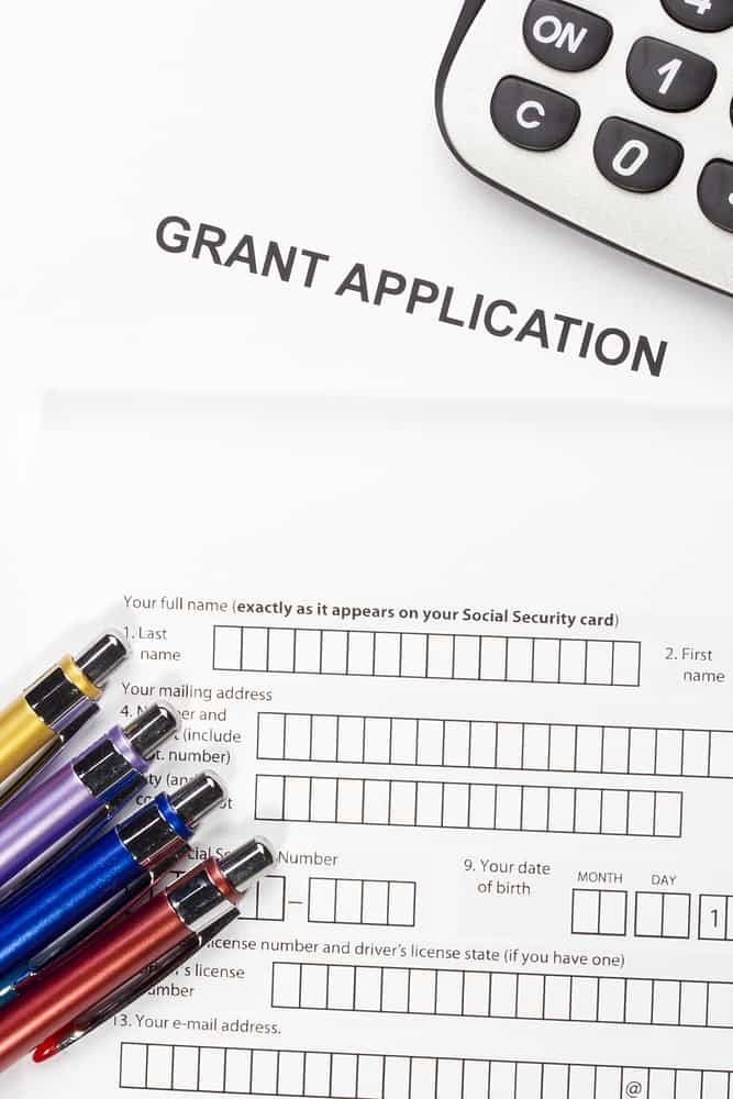 Grant Application indicating college finances