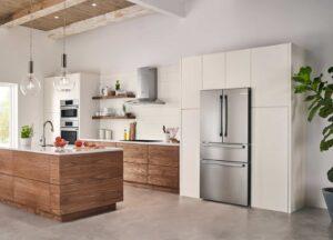 clean modern kitchen with Bosch refrigerator