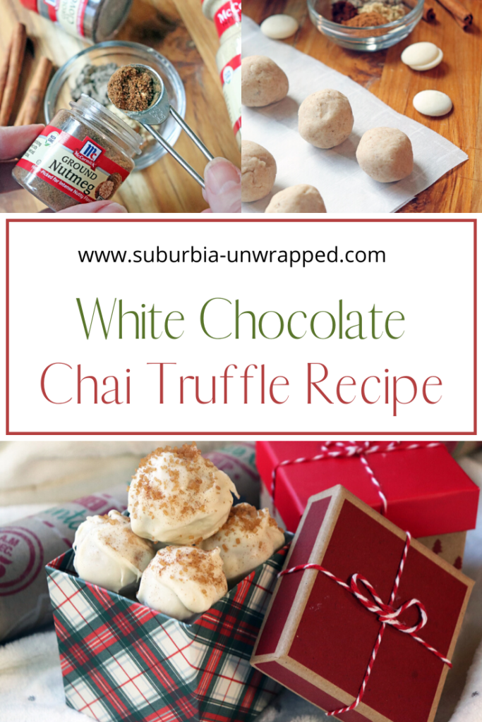 White chocolate chai truffle recipe for holiday gift giving