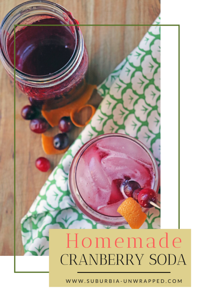 How to make homemade cranberry soda using fresh cranberries