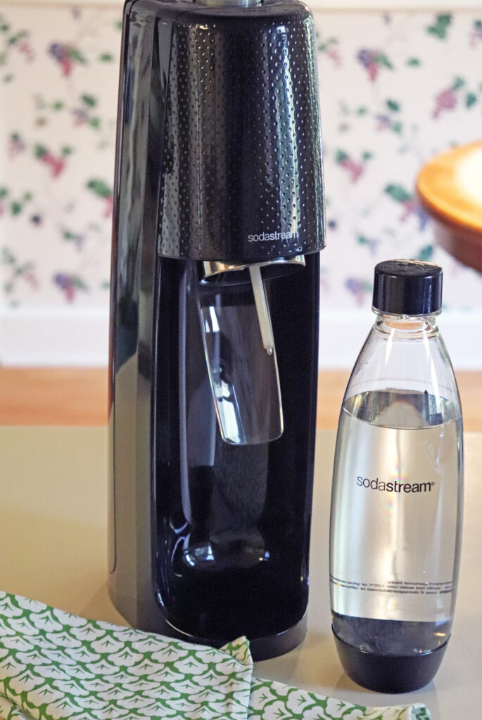 Sodastream machine on counter